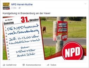 NPD outet sich als Veranstalter_in